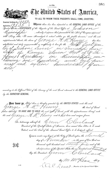 Original Homestead Deed