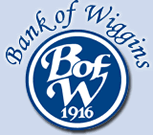 Bank of Wiggins logo