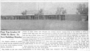 Wiggins High School - 1957