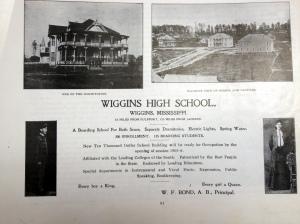 Wiggins High School 1905