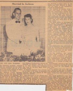 Gordon and Mildred McHenry Wedding