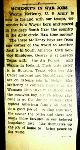 McHenry's in War Jobs Article