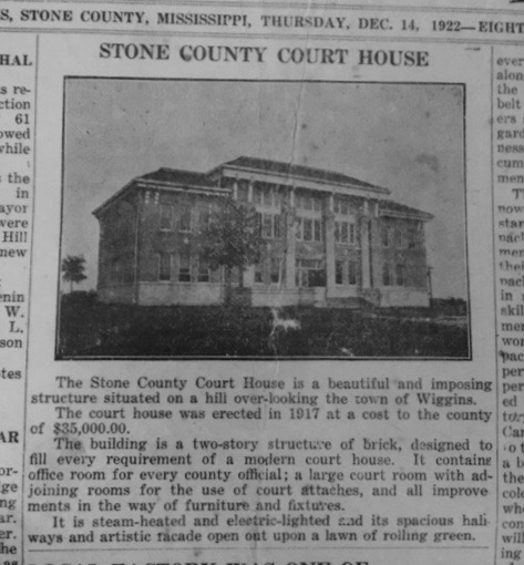Stone County Courthouse - 12/14/1922